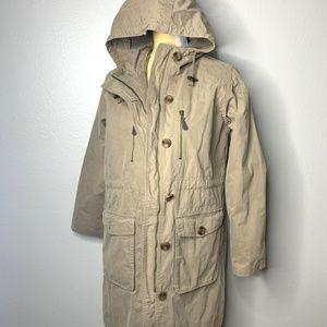 Eddie Bauer Cream Khaki Zip Up Jacket SP
